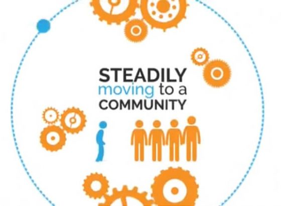 steadily moving to a community